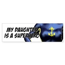 Super Daughter - Drk Blue, Bumper Car Sticker