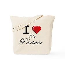 i love my Partner.png Tote Bag