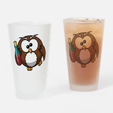 Drunk Owl Drinking Glass