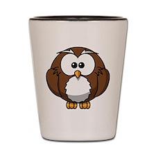 Cartoon Owl Shot Glass