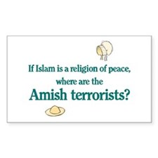 Amish Terrorists Rectangle Decal