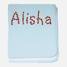 Alisha Coffee Beans baby blanket