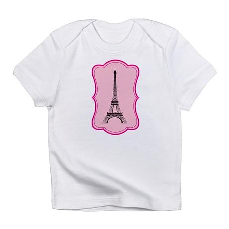 Eiffel Tower on Pink Flourish Infant T-Shirt