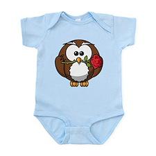 Owl With Rose Infant Bodysuit
