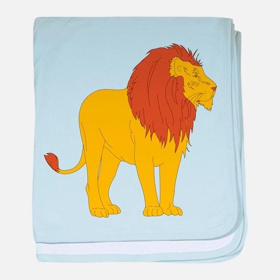 Cartoon Lion baby blanket