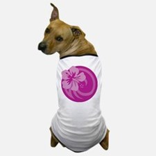 Hibiscus Purple Dog T-Shirt