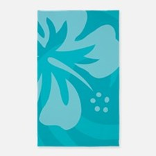 Hibiscus Light Blue 3'x5' Area Rug