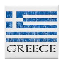 Greece Flag Tile Coaster