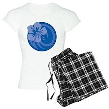 Hibiscus Blue Pajamas