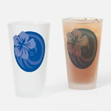 Hibiscus Blue Drinking Glass