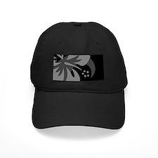 Hibiscus Black Baseball Hat