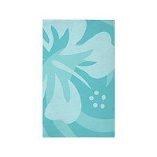 Hibiscus Aqua 3'x5' Area Rug