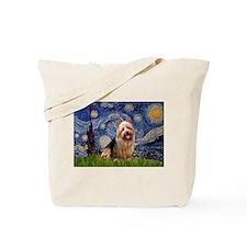 Starry Night Aussie Terrier Tote Bag