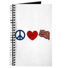 Peace Love and Bacon Strips Journal