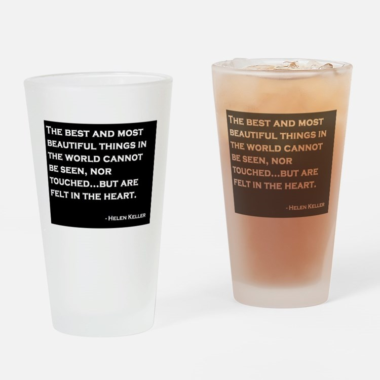 The Most Beautiful Things Drinking Glass