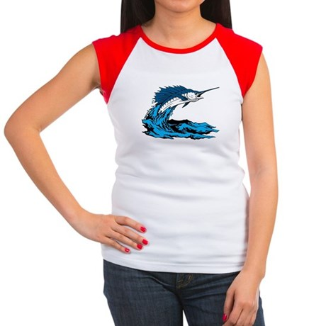 Swordfish Jump Women's Cap Sleeve T-Shirt