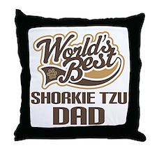 Shorkie Tzu Dog Dad Throw Pillow
