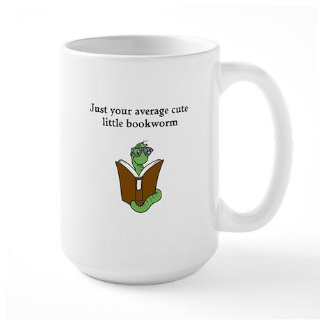 Cute Bookworm Large Mug