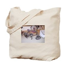 Kids Small Motor Bike Tote Bag