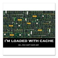 """Loaded With Cache Square Car Magnet 3"""" x 3"""""""