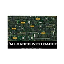 Loaded With Cache Rectangle Magnet