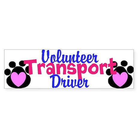 Volunteer Transport Driver Bumper Sticker