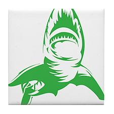 Green Shark Tile Coaster