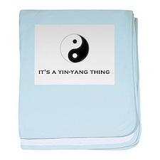 Yin Yang Thing baby blanket