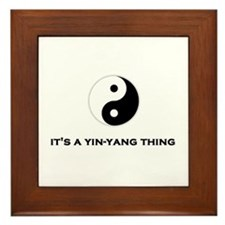 Yin Yang Thing Framed Tile