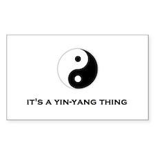 Yin Yang Thing Decal