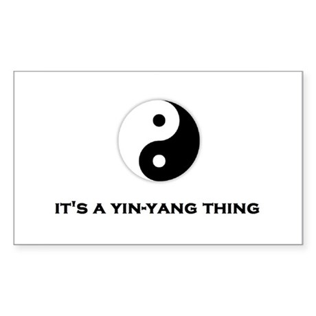 Yin Yang Thing Sticker (Rectangle)