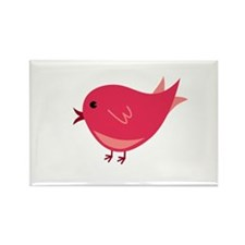Red Birdie Rectangle Magnet (10 pack)