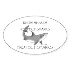 Shark Oval Decal