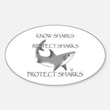 Shark Oval Decal