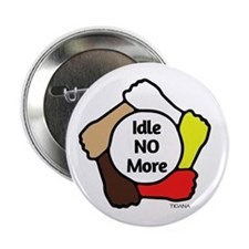 "Idle No More - Five Hands 2.25"" Button"
