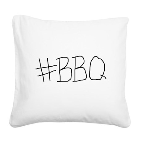 #BBQ Square Canvas Pillow
