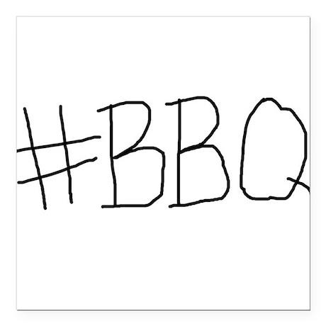 "#BBQ Square Car Magnet 3"" x 3"""