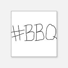 """#BBQ Square Sticker 3"""" x 3"""""""