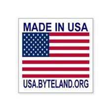 "MADE IN USA Square Sticker 3"" x 3"""