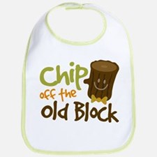 Chip Off The Old Block Bib