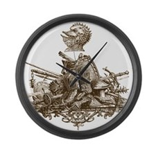 Arms and Armor Large Wall Clock