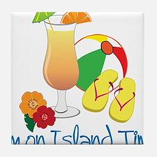Island Time Tile Coaster