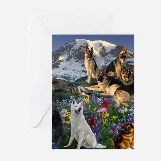 German Shepherd Country Greeting Cards