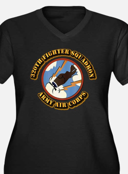 AAC - 320th Fighter Squadron Women's Plus Size V-N