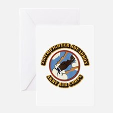 AAC - 320th Fighter Squadron Greeting Card