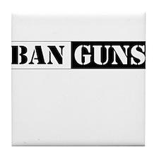 Ban Guns Tile Coaster