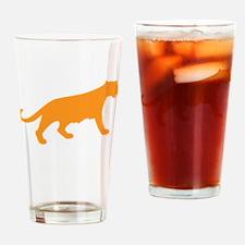 Orange Panther Drinking Glass