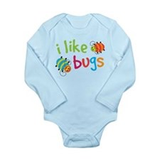 Cute I Like Bugs Long Sleeve Infant Bodysuit
