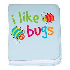 Cute I Like Bugs baby blanket