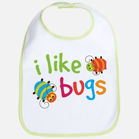 Cute I Like Bugs Bib